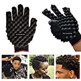 TOOLSSIDE Curling Sponge Glove for Hair - Curl Glove Sponge for Hair - Twist Brush Glove for Curly Hair Styling Care (Right hand)
