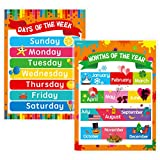 Days of the Week, Months of the Year Laminated Posters Get to Know the Calendar for Kids (17' x 23')