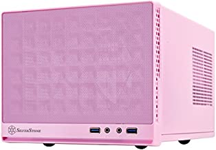 SilverStone Technology Ultra Small Form Factor Computer Case Mini-ITX in Pink SG13P