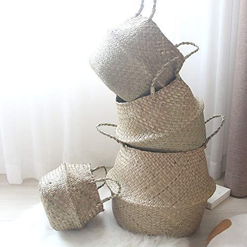 Yosposs en osier Pots de fleurs en rotin Kz3281-w643 Rotin Décoration murale à suspendre pour plantes Pots de fleurs Vase Petit Modèle Jonc Tressé Naturel Tote Belly Panier à linge pour le rangement de pique-nique Pot de fleurs Housse et sac de plage m