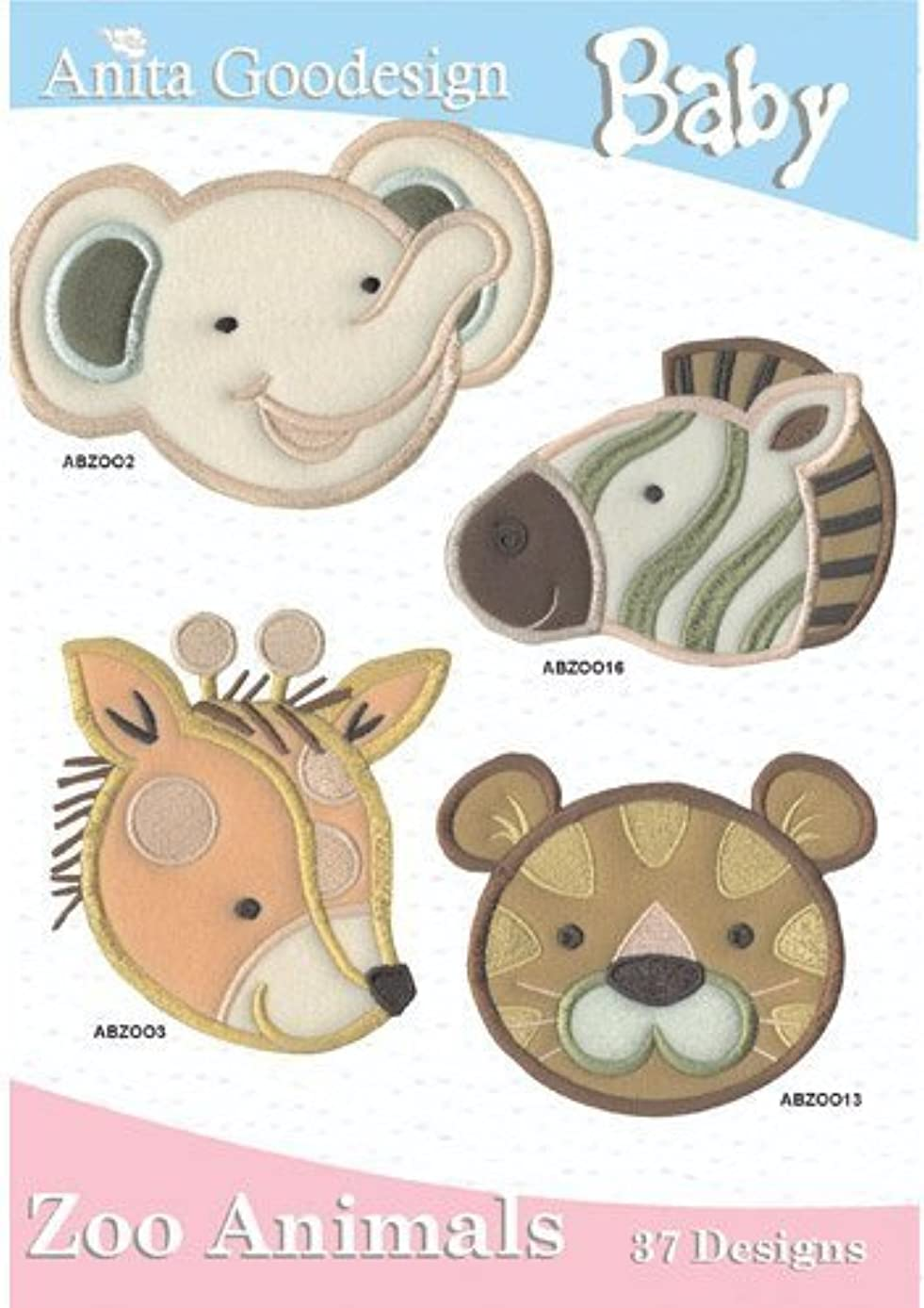 Anita Goodesign Embroidery Designs Cd Baby ZOO Animals