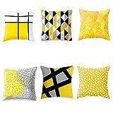 Fundas de cojín geométricas sencillas (núcleo de almohada no incluido), 6 unidades 1 vendidas, 45 x 45 cm