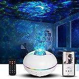 LED Sternenhimmel Projektor, Galaxy Light Sternenlicht Lampe mit Bluetooth Musikspieler/Fernbedienung/Touch Taste/Timer Perfekt für Party Schlafzimmer Spielzimmer