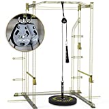 ARCHON Fitness Single Pulley Cable Station 70' Pair | Cable Machine | Pulley System | LAT Pull |...