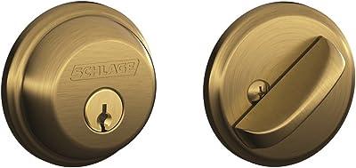 Schlage B60n 619 Single Cylinder Satin Nickel Deadbolt Door Dead Bolts Amazon Com