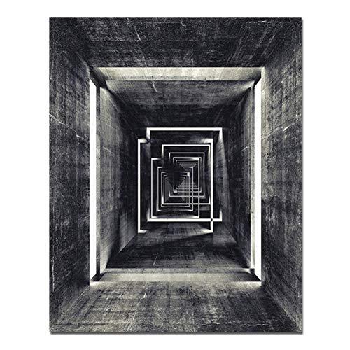 sjkkad landschap grijs wandverlichting canvas schilderij poster en afdrukken abstract beeld voor woonkamer wooncultuur -60x80 cm geen lijst