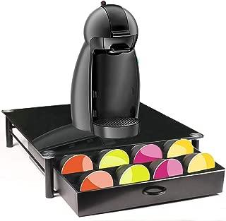 TAOKY K-CUP HOLDER,Black Toughened Glass coffee Storage Drawer …