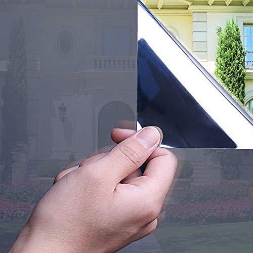 S`good Einweg reflektierende Fensterfolie,80X300 cm Solarfolie, Einweg-Spiegelfolie, Selbstklebende Wärmesteuerung Sonnenschutz Blendungsreduzierung Anti-Uv-Fenstertönung @ A
