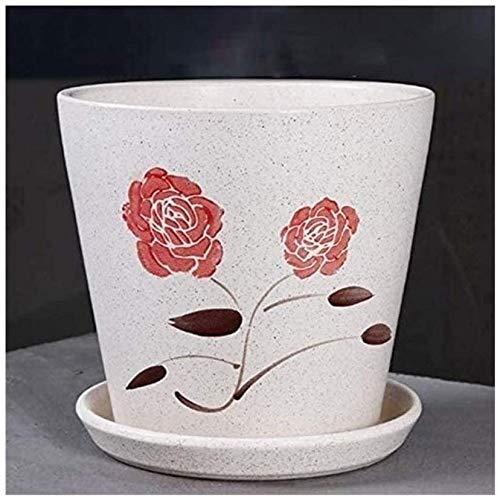 Cerámica Maceta Sala de estar Balcón Simple Cerámica Flor Pot Office Desktop Dispitraje de la flor Bonsai Bonsai Fruta Árbol Preservación Pot Planta Potes de contenedor para plantas y flores Decoració