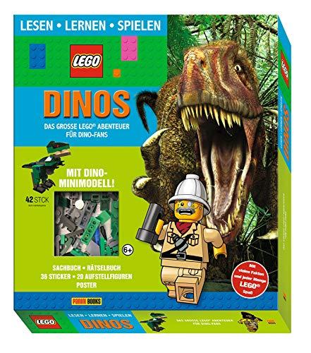 LEGO®: Dinos Das große LEGO® Abenteuer für Dino-Fans (Lesen, Lernen, Spielen): Geschenkbox mit Sachbuch, Rätselbuch, 1 Poster, 1 Stickerbogen, 20 ... Pappe und LEGO® Dino-Minimodell (42 Elemente)