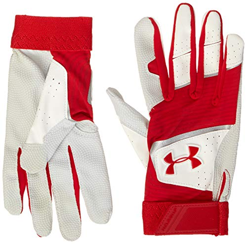 Under Armour Boys' Youth Clean Up 19 Baseball Gloves , Red (600)/Red , Red...