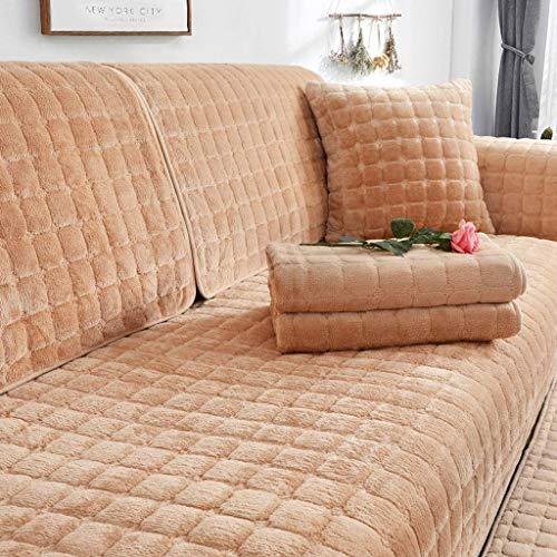 SHAFAJNC Winter Sofa Überwürfe Samt rutschfest Volle Deckung,Ecksofa L-Form Sofaschoner Möbelbezug Sofa Schutz Starke 1 2 3 4 Seater Sofabezug Sofaüberwürfe-G-70x180cm(28x71inch)