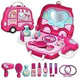 Wechoide Kinder Rollenspiel Spielzeug Set Küche Kochen Besteck Essen Angebot Ständer Kommode Spiel Set - G