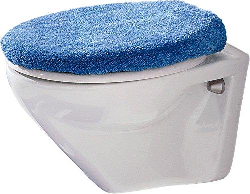 Erwin Müller WC-Deckelbezug mit Schnürung blau Größe 47x50 cm - flauschig, weich (weitere Farben)