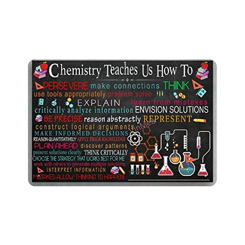 BNIST Chemistry Teaches Us How to Vintage Sign Aluminum Tin Metal Signs Warning Sign Retro Plaque Poster Wall Art Decor 8X12 inches