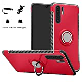 LFDZ Huawei P30 PRO / P30 Plus Custodia, Resistente TPU Case Design 360 Grado Rotazione Protective Custodia Cover per Huawei P30 PRO / P30 Plus (Non Compatibile con Huawei P30 / P30 Lite),Rosso