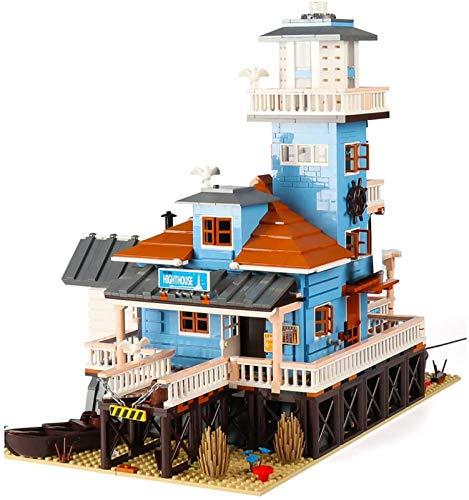 Juguetes de bloques de construcción de tienda de buceo de pescador, bloque de diamantes modelo 3D, juego de rompecabezas juguete adultos regalo bricolaje para niños. blue,12002