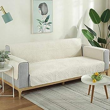 housse de fauteuil protection canape,Housse de canapé pour animaux de compagnie pour canapé en cuir et tissu,housse de canapé universelle pour chiens de chat,couverture complète anti-rayures-beige_3