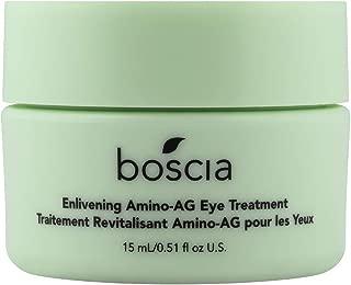 boscia Enlivening Amino-AG Eye Treatment - Natural Amino Acid Under Eye Cream for Dark Circles, Puffiness and Minimizing Wrinkles, 0.5 fl oz