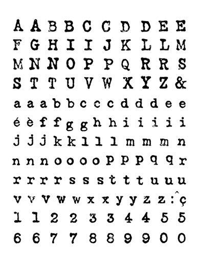 Artemio Clear Stamps Alphabet III, Transparent