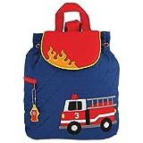 Stephen Joseph Children's Quilted Backpacks - Fire Engine Sac à dos enfants, 33 cm, 2.5 liters, Bleu (Blue)