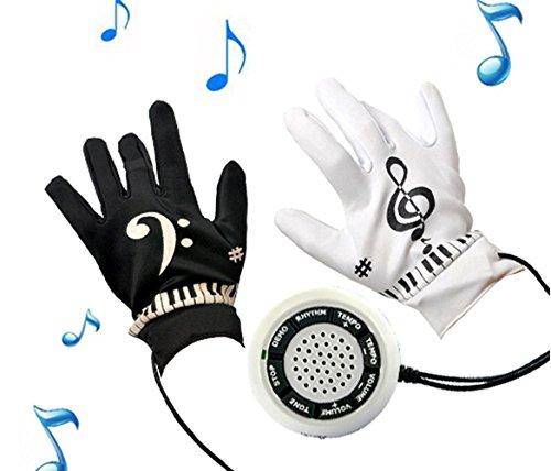SHP Elektronische Keyboardhandschuhe, Klavierhandschuhe, Piano Gloves, die einzigen mit Audio Out! - genießen Sie den Klang über Stereoanlage!