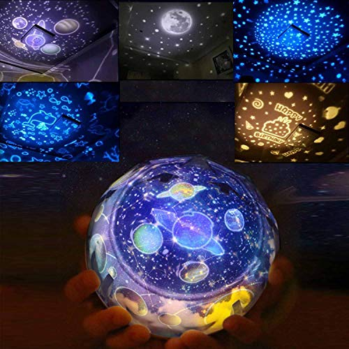 Stars Projector Night Light Gifts for Girls, Rotating Universe Star Night Lights Projection Lamp 3-12 Year Old Girl Gifts Christmas Birthday Gift for Girls Boys White