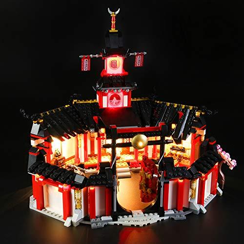 LIGHTAILING Licht-Set Für (Ninjago Kloster des Spinjitzu) Modell - LED Licht-Set Kompatibel Mit Lego 70670(Modell Nicht Enthalten)