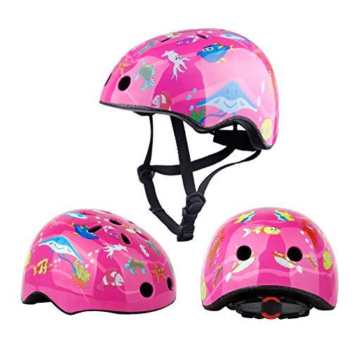 HAHADONG Casco de bicicleta para niños pequeños, ajustable, resistente al impacto con visera extraíble para monopatín, bicicleta, BMX, scooter para niños de 3 a 13 años de edad, mejora, A