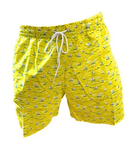 Navigare Boxer Mare Costume Uomo Pantaloncini da Bagno Swim Short (Giallo 998381, XXL)