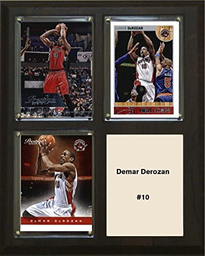 NBA Toronto Raptors Demar Derozan Three Card Plaque Brown 8 x 10 product image