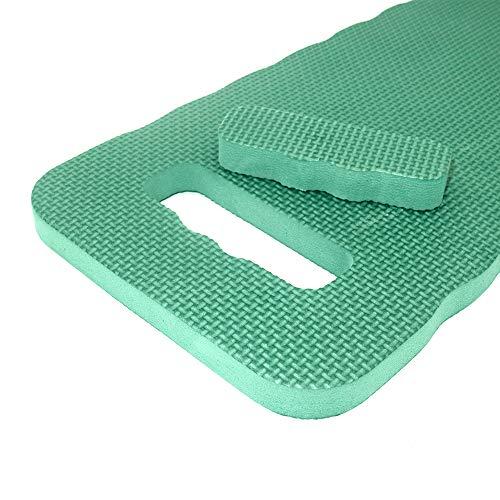 Waterproof Garden Kneeler Cushion Green Handy Kneeling Mat Pads Rectangular, 45 x 25.5 x 2 cm