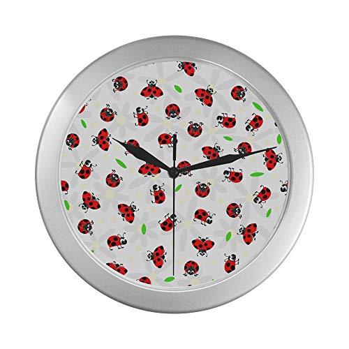 JOCHUAN Reloj de Pared de Cocina de Cuarzo Oxeye Daisy Floral Reloj...
