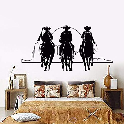Home Decor Vinyl Muursticker Western Cowboys Muursticker Afneembare Paarden Zonsondergang Film Cinema Stickers Home Decor muurschildering 57 * 28cm