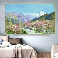 Levitan IsaakIliich《イタリアの春》キャンバス油絵アートポスター画像レプリカモダンな壁の装飾家のリビングルームの装飾40x60cmフレームレス