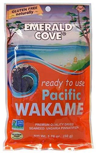 Emerald Cove Silver Grade Wakame (Dried Seaweed) Bag, Original, 1.76 Oz