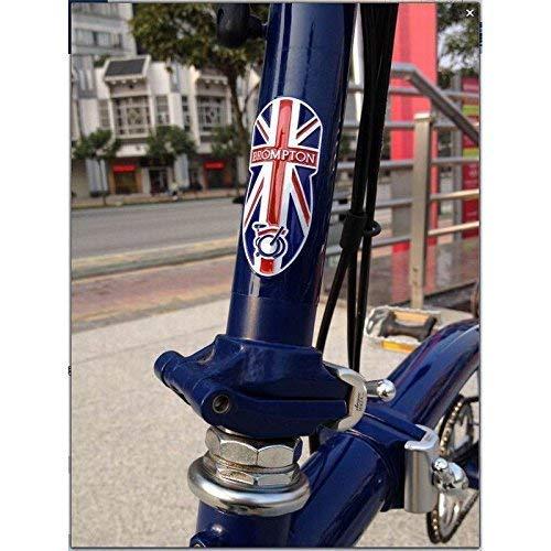 Flower Studio Metálico Cabeza Tubo Insignia para Brompton Union Jack