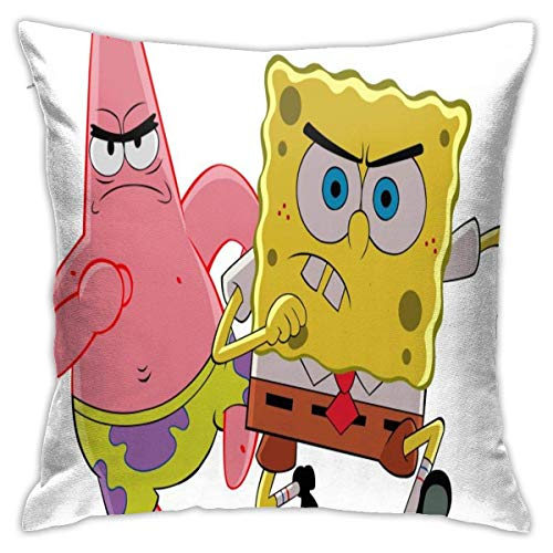 gshihuainingxianshekush Classic Anime Cute Sponge Baby Throw Pillow Covers Pillow Case Modern Cushion Cover Square Pillowcase Decoration-for Sofa Bed Chair Car 18 X 18 Inch