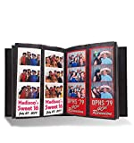 Photo Booth Album for 2'x6' Photo Strip Pics - Holds 200 Photo Booth Pictures on 100 Pages - Slide-in Photo Booth Photo Album - 2 inch x 6 inch - Wedding Scrapbook Photos or Bookmark Album