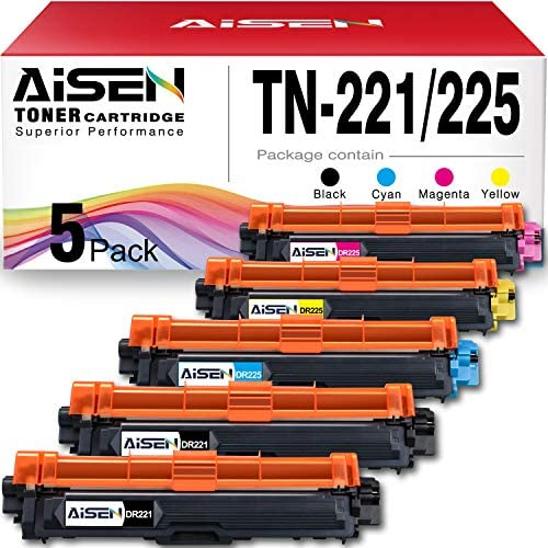 AISEN Compatible Toner Cartridge Replacement for Brother TN221 TN225 TN 221 TN 225 Used in Brother product image