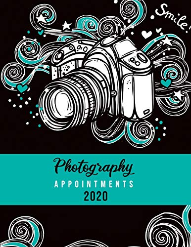 Photography Appointments 2020: 8.5' X 11' hourly appointment book for photographer