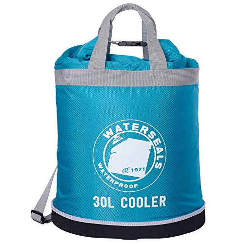 KickIce Dry Bag + Soft Cooler with PVC Free Leakproof Lining + Rolltop Closure for Kayaking, Beach, Rafting, Boating, Hiking, Camping and Fishing, Holds 36 Cans & Ice, 30L, Blue