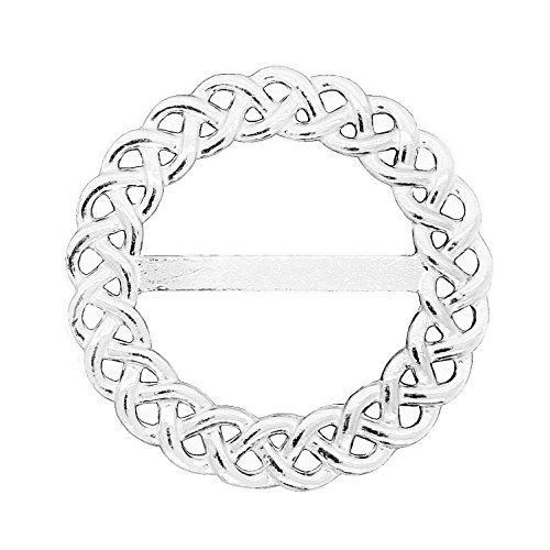 Luxury Fine Pewter Celtic Braid Scarf Ring, Handcast by William Sturt