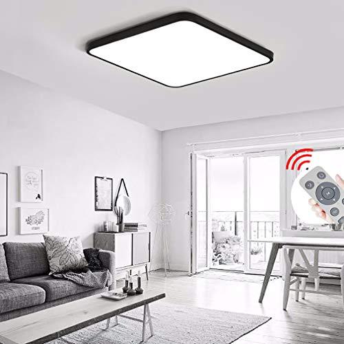 ZLQ Moderne led-plafondlamp, dimbaar, slaapkamer met afstandsbediening, 5 cm, ultradun, voor in de woonkamer, creatief studio