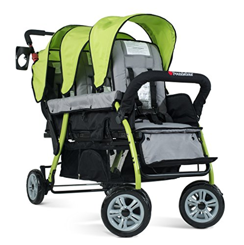 2020 Foundations The Trio Sport Triple Tandem Stroller, Lime