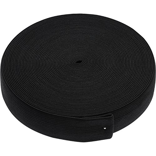 eBoot Elastic Spool (1 Inch x 11 Yard, Black)