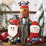 Christmas Candy Jar Food Storage Container Santa Snowman Reindeer Penguin Cute Sugar Box Decorative Bottles Xmas Decor Gift (1, Reindeer)