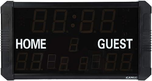 Tableau de pointage numérique,gardien de pointage de sports électronique portatif à DEL avec télécomhommede,chronomètre de compte à rebours indiquant le pointage pour le basketball le baseball etc