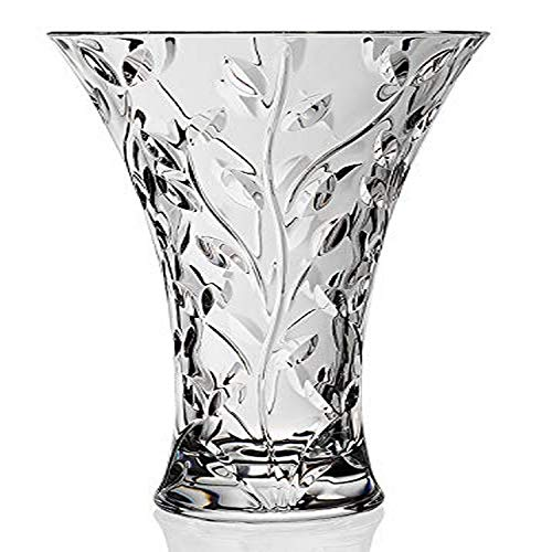 "RCR Crystal ""LAURUS"" Vase 11"" - Made in Italy"