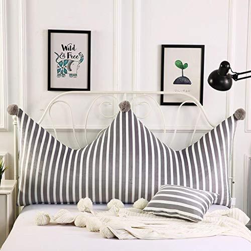 LFOZ Ins Kronenkissen 1,5 m Bettkissen Schlafzimmer weiche Tasche Prinzessin Wind Bett Kopfkissen große Rückenlehne einfach modern (Color : B, Size : 150cm)